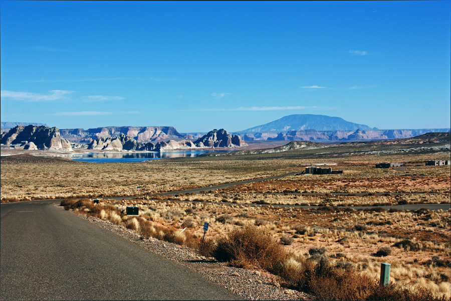View from Anasazi Drive looking East