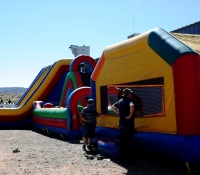 Funtime Inflatables set up