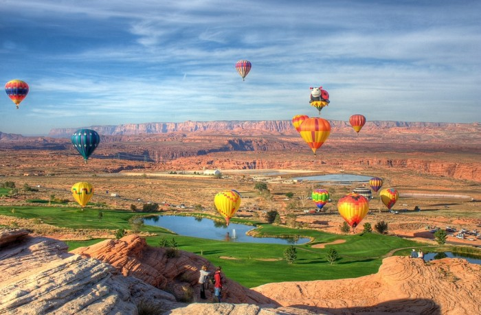 Balloons above Page AZ by Heather Rankin