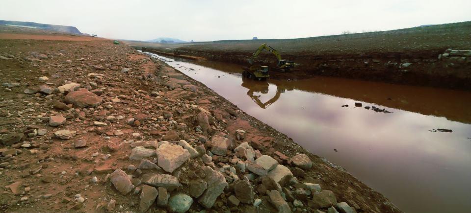 Dredging of Castle Rock Cut on Lake Powell