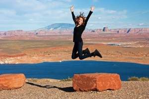 Lake Powell Jump for Joy