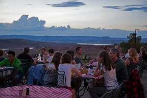 Beautiful Patio Dining in Page with views of Lake Powell and stunning sunsets